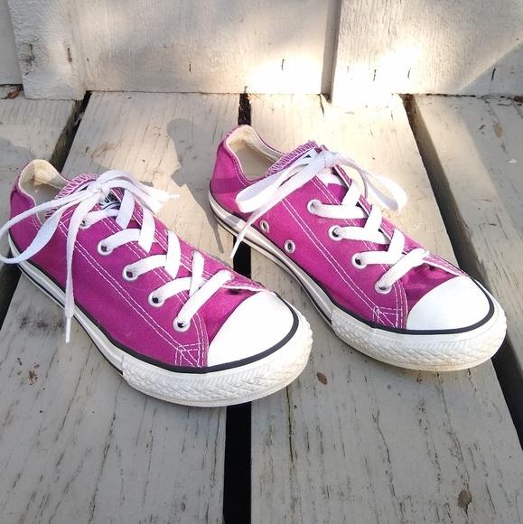 Converse Other - Converse • big kids sz 2 purple sneakers